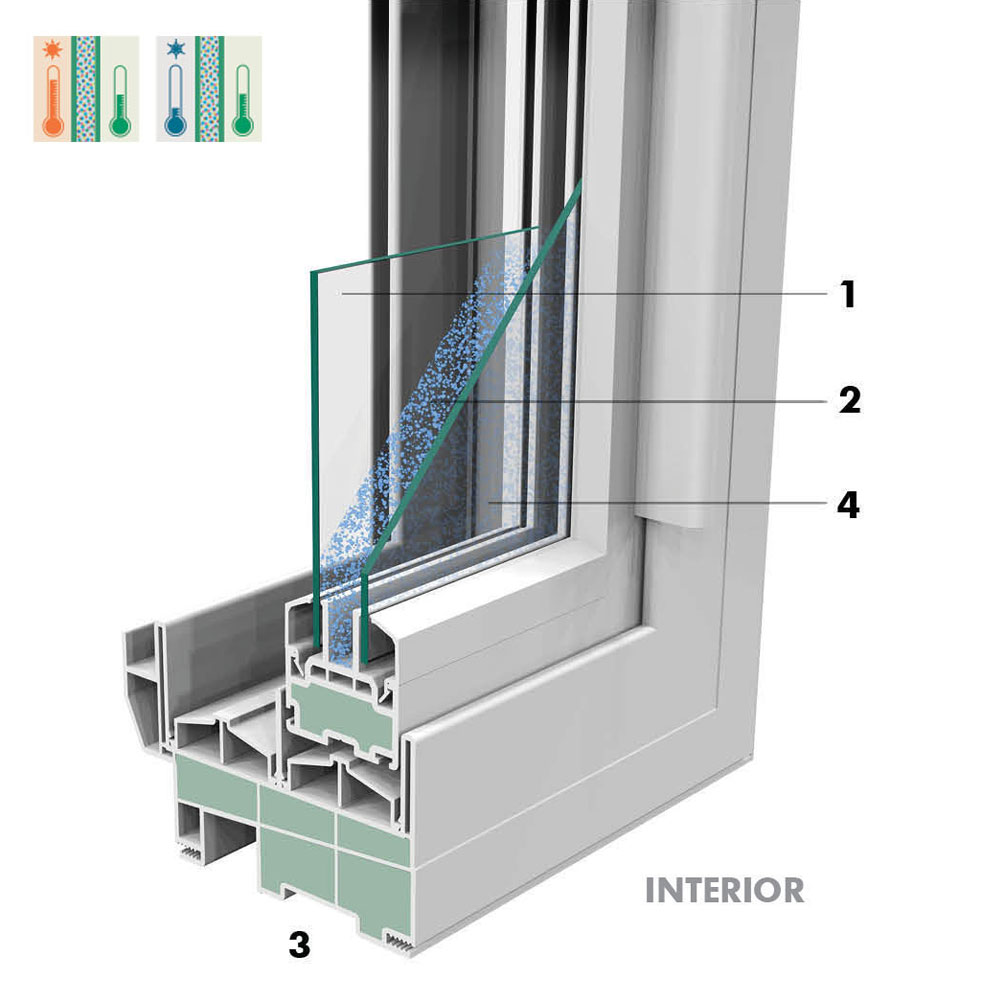 Crusader slider window northeast building products for Window insulation values
